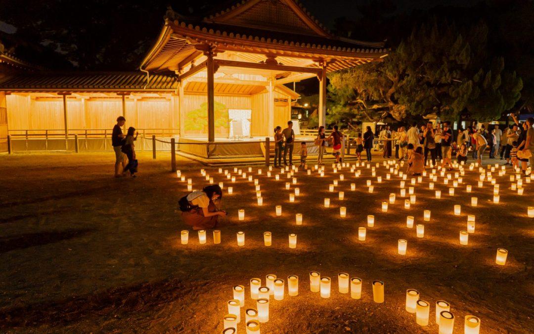【高砂・万灯祭り】高砂の夜空を照らす万の光に老若男女が恍惚状態!
